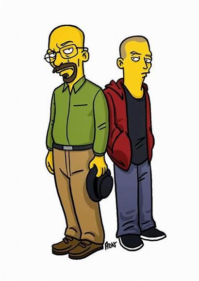 Simpsons Bad Breaking Jesse Pinkman Walter Simpsonized