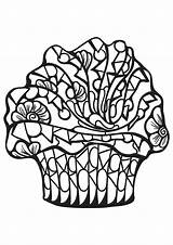 Coloring Cakes Pages Cupcakes Cupcake Adults Food Adult Cake Cup Fruit Geeksvgs Printable Little Children Mandala Justcolor Nggallery sketch template