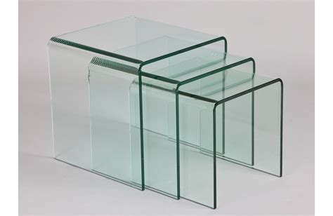 tables gigognes en verre