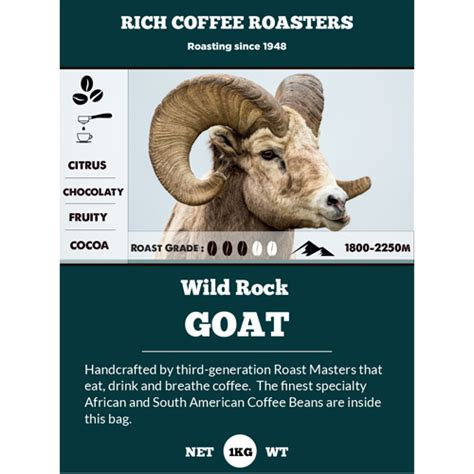 Providing newark freshly brewed coffee daily. Goat Exclusive Blend - Rich Coffee Roasters Goat Exclusive Blend