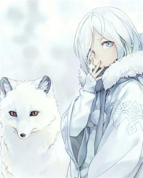 Image of chibi wolf base by wolfspiritofrain on deviantart. White Arctic Fox Anime Girl