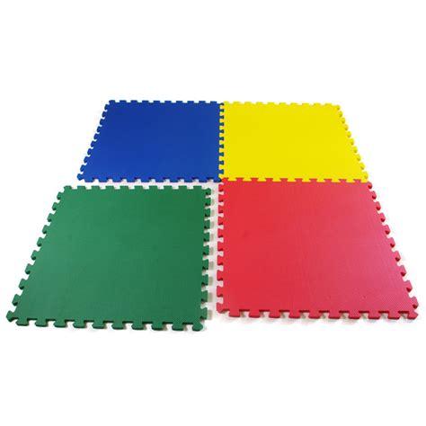 Foam Floor Mats by Playmats Foam Tiles Showing 3 Tiles Interlocked One Pulled