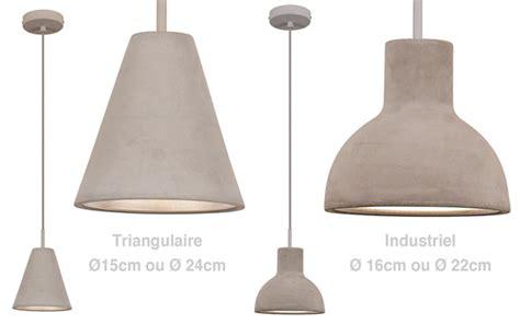 luminaire suspendu table cuisine suspension béton un luminaire brut de décoffrage