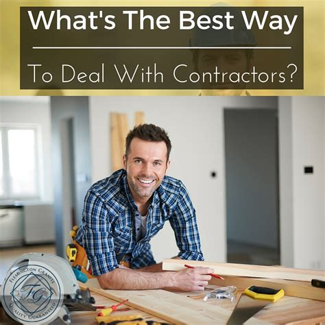 what s the best way to deal with contractors flemington