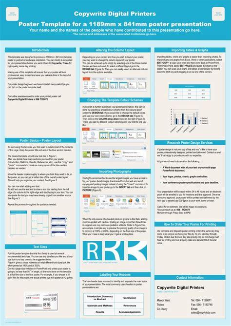 copywrite digital printers poster template