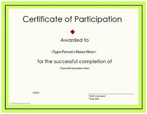 Certificate Of Participation Template Free Best Photos Of Printable Certificates Of Participation Blank Participation Certificate