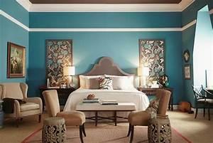 Déco Chambre Bleu Canard : 1001 id es pour une chambre bleu canard p trole et paon ~ Melissatoandfro.com Idées de Décoration