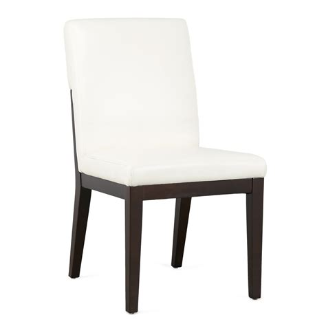 city furniture lago white bonded leather side chair