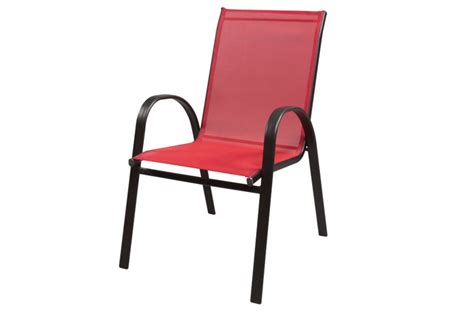 stacking steel sling patio chair unbranded steel sling stacking the home depot canada
