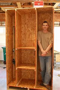 DIY Homemade Wood Garage Storage Wall Cabinet For Small