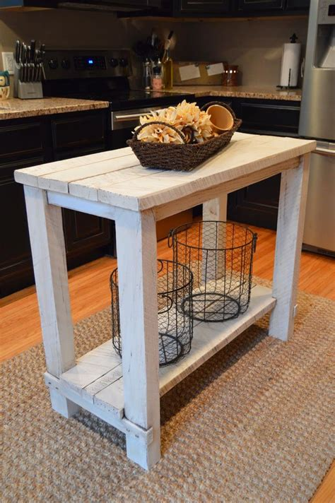 rustic reclaimed wood island for small kitchen