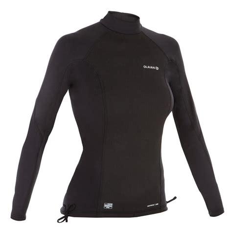tee shirt anti uv surf top neoprene polaire manches longues femme olaian decathlon