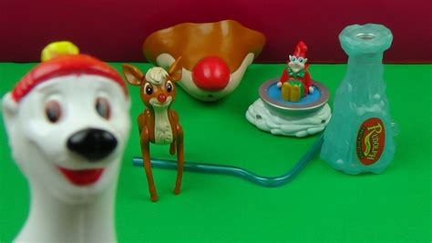 1998 wendys rudolph the red nosed reindeer kids meal set