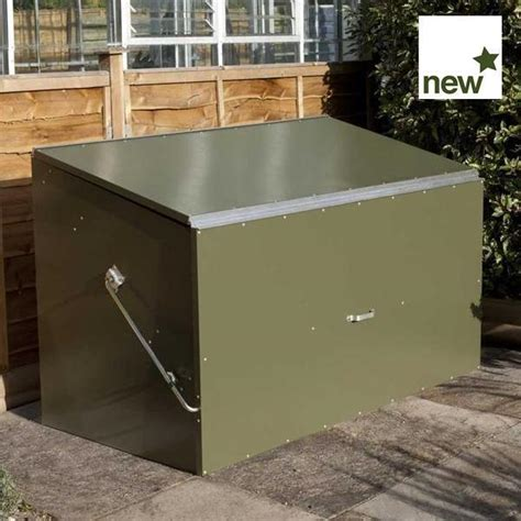 rowlinson secure store metal garden storage unit