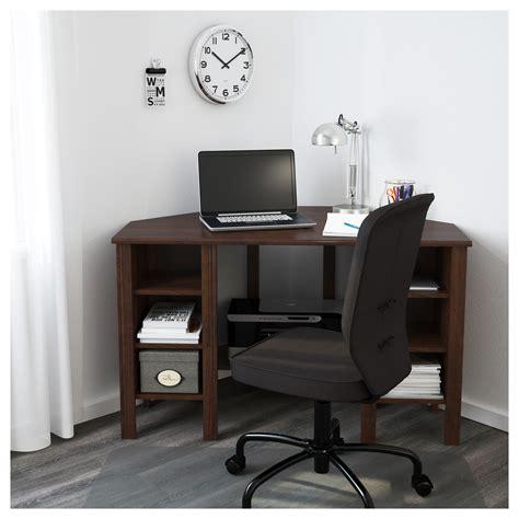 corner desks ikea brusali corner desk brown 120x73 cm ikea