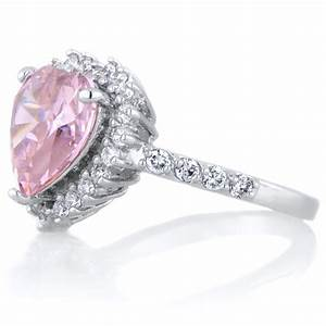 pink heart diamond engagement ring beautiful ring With diamond heart wedding ring
