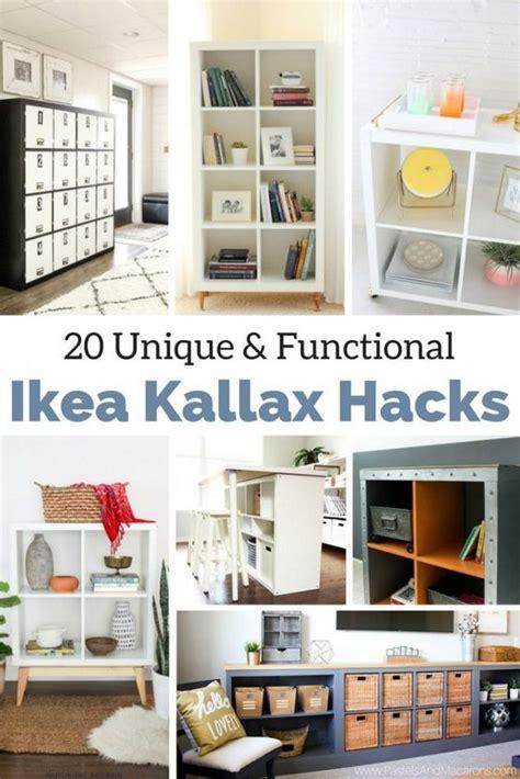 ikea kallax hacks  organize  entire