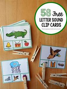 free letter sounds activity clip cards letter sound With learning letter sounds games