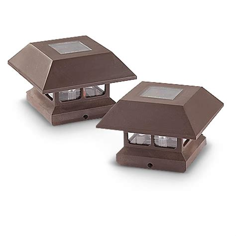 solar deck cap lights castlecreek solar deck post cap lights 2 pack 233713