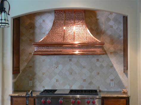 kitchen hammered copper range hood   kitchen
