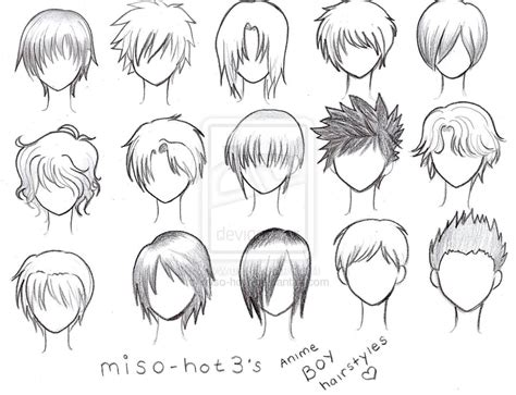 Anime Boy Hairstyle by New Original Boy By Nna12 On Deviantart