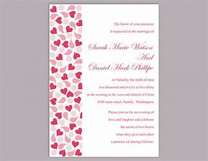 diy wedding invitation template editable word file instant With blank heart wedding invitations