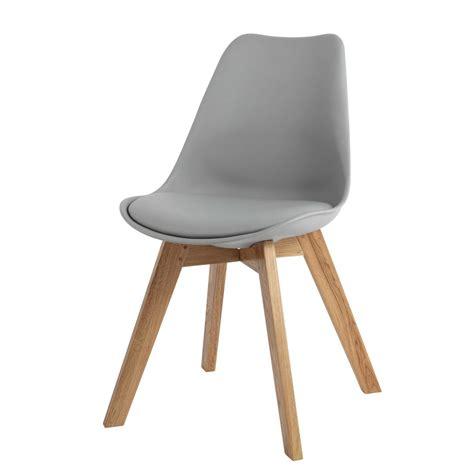 maison du monde chaise de bureau chaise en polypropylène et chêne grise maisons du monde