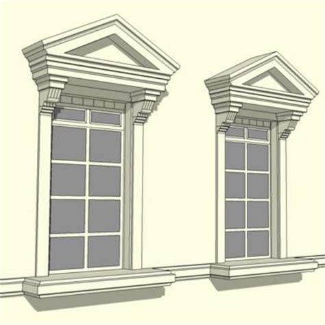 Pediment Fenestration 3D Model   FormFonts 3D Models