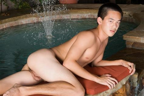 18 Year Old asian twink Jerking His thick asian cock big asian dick