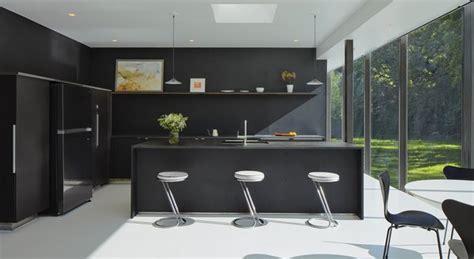 homes  sleek black kitchens dwell