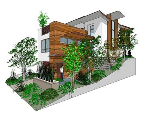 3 bdrm hillside house home designs Pinterest House