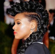Janelle Monae Hairstyle with Braids
