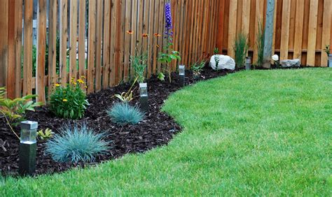 fence backyard ideas backyard landscaping ideas along fence 187 backyard and yard design for village