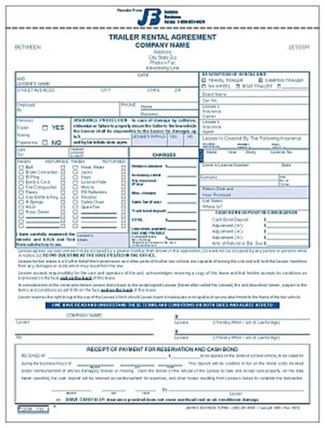 trailer rental agreement