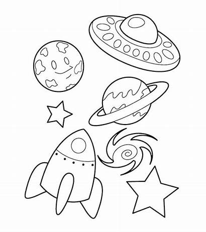 Coloring Rocket Pages Spaceship Ship Printable Toddlers