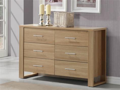 meuble rangement chambre bébé commode ilora 6 tiroirs chêne l119 x p39 x h76cm