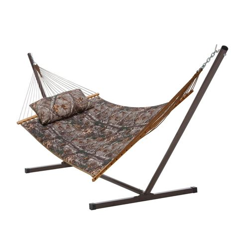Hammocks With Stands by Castaway 13 Ft Quilted Real Tree Hammock With Stand And