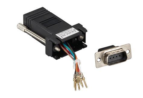 db9 m rj45 f modular adapter kit black black box