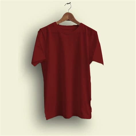 Gambar Kaos Polos Warna Merah Marun Inspirasi Desain Menarik