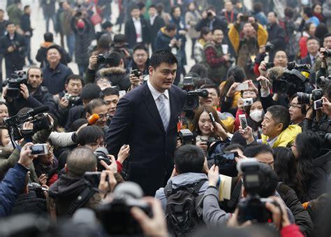 Yao Ming Towers Above Beijing Press Nbc News
