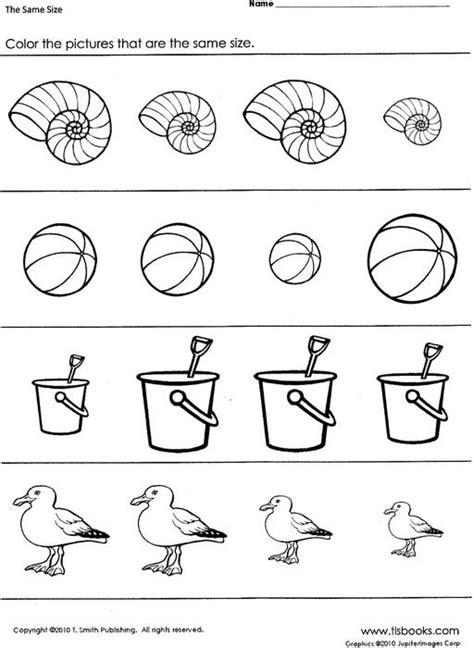 12 Best Images Of Objects That Are The Same Worksheet  Same Size Worksheets, Alike And