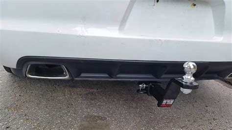 dodge charger police trailer hitch installation