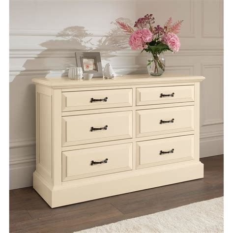 shabby chic chest brittany 6 drawer antique french chest