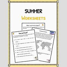 Summer Facts & Worksheets For Kids