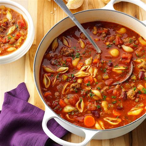 hearty pasta fajioli recipe taste of home