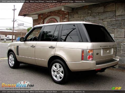 black and gold range rover 2003 land rover range rover hse white gold metallic sand