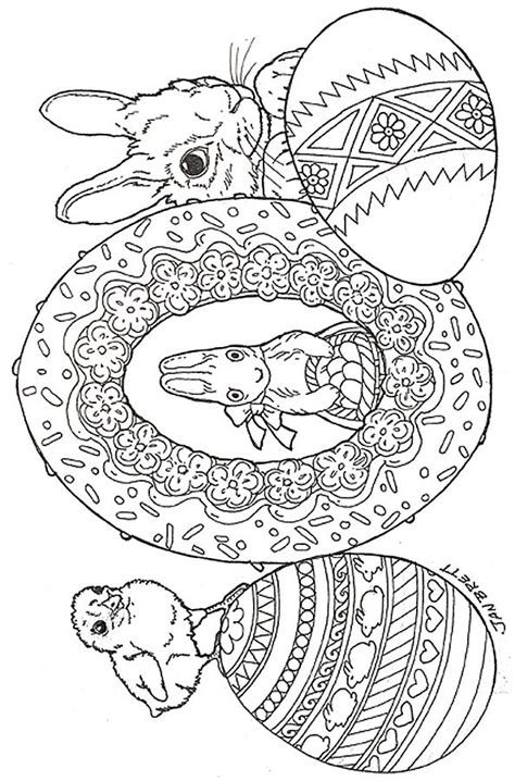 easter eggs coloring page easter coloring diy