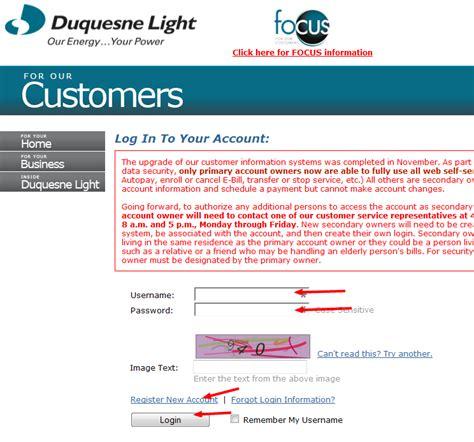 duquesne light customer service duquesne light company bill pay pennsylvania pa
