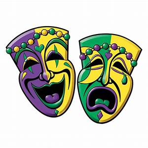 2 Mardi Gras Carnival Party COMEDY TRAGEDY Mask Face ...