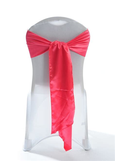 coral satin wedding chair cover sash 8 quot x 108 quot event
